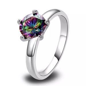 ❤BOGO Rainbow Topaz Ring
